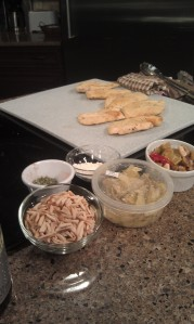 Champagne chicken with Food City Olive Bar artichokes and Greek mix olives